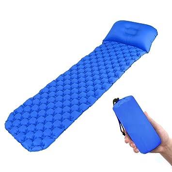 BangShou Esterilla Hinchable para Dormir o Acampar al Aire, colchón para Cama de Aire Interior