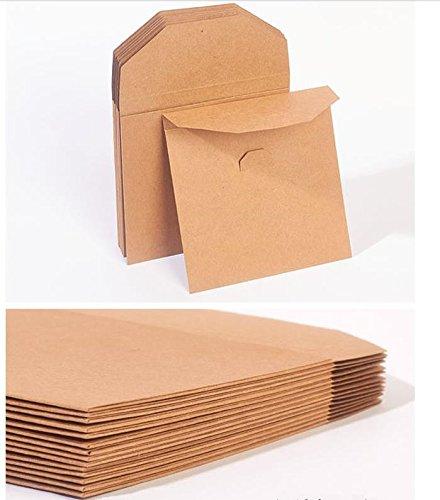 100 bolsas de papel kraft porta-CD / porta-DVD. Cierre ...
