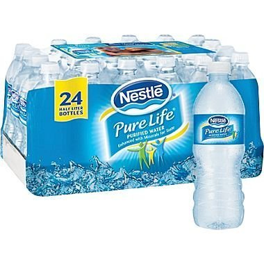Nestlé® Pure Life® Bottled Purified Water, 16.9 oz. Bottles, 24/Case from Nestlé
