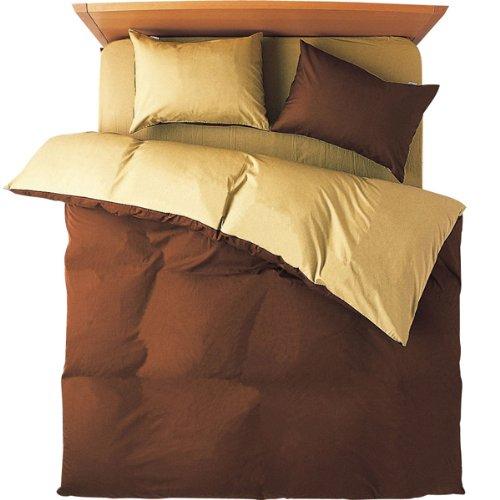 メリーナイト FROM ベッド用 カバー4点セット ダブル 日本製 ブラウン B00HV57M8Kブラウン