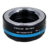 Vizelex ND Throttle Lens Adapter from Fotodiox Pro - Minolta MD Lens to Sony E-Mount w/Built-In Variable ND Filter ND2-ND32