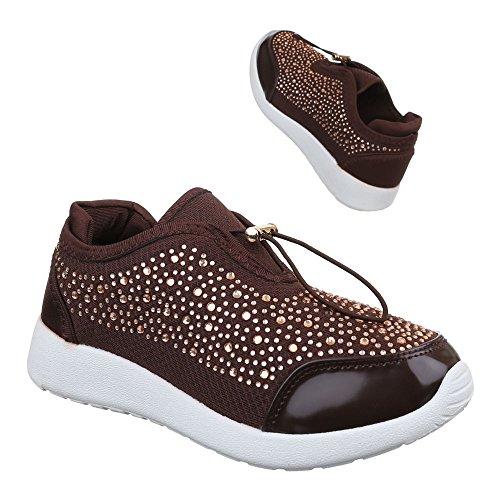 Ital-Design - Zapatillas de casa Mujer marrón