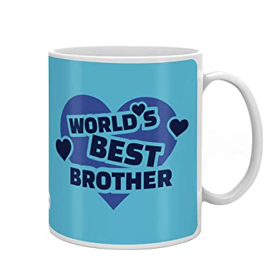 Indi ts Crystal Rakhi World s Best Brother Quote Printed Mug 330 Ml Roli Chawal & Greeting Card For Men And Boys