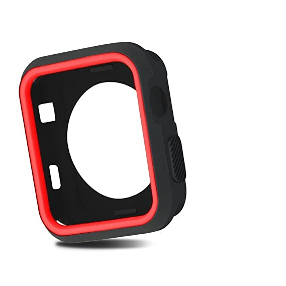 new product f6051 22c74 Apple Watch Case 38mm, iPhone Watch Shock-proof Silicone Case Full Body  Protective Bumper Cover for 38mm Apple Watch Series 3/Series 2/Series ...