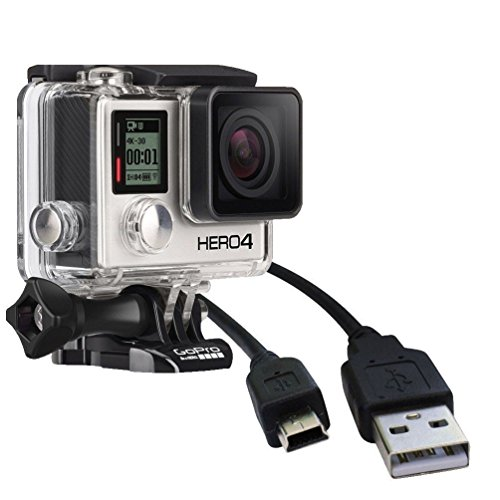 Storite USB USB A to Mini B 2.0 Charger Data Sync Transfer Cable Lead Cord For GoPro Hero 4 3+ 3, Hero HD, Cell phones, MP3 Players, Digital Cameras, PDA (1 Pack) ()