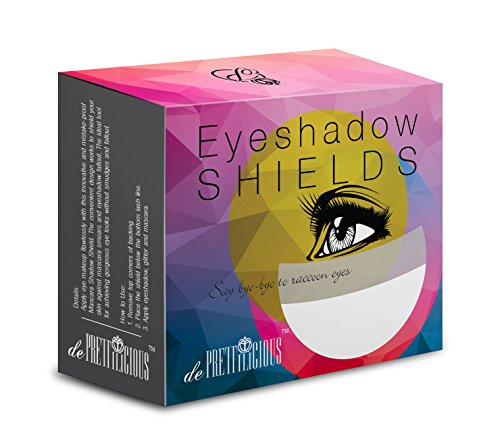 de Prettilicious Eyeshadow Shield 100 pieces. FREE BEAUTY E-BOOK. Eye Shadow Shields Mascara Eyelash Guard Protector Cosmetic Application by de Prettilicious