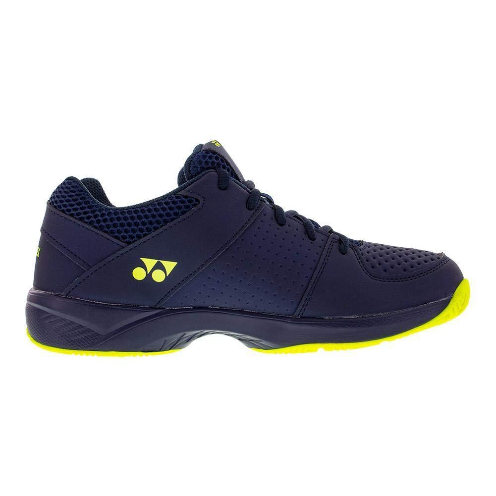 Yonex-Juniors` Power Cushion Eclipsion 2 Tennis Shoes Navy and Yellow-