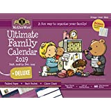 "MotherWord Ultimate Family Magnetic Hanging Calendar and Chore Chart, 16-Month, Sept 2018-Dec 2019, English, Large Deluxe Version, 18"" x 13.5"" (MWFC012819)"