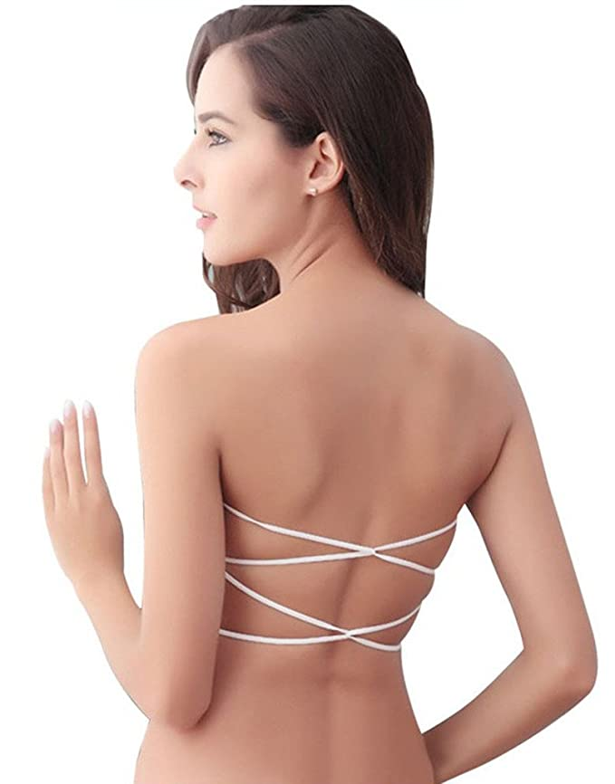 7ee63aeb55 Dealseven Fashion White Colour Sexy Padded Lace Boob Tube Top(Pack of 1)   Amazon.in  Clothing   Accessories