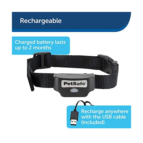 PetSafe-Rechargeable-In-Ground-Fence-for-Dogs-and-Cats-over-5lb-from-the-Parent-Company-of-INVISIBLE-FENCE-Brand-Waterproof-Collar-with-Tone-and-Static-Correction--Multiple-Wire-Gauge-Options