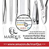 MarQus Manicure Set Solingen made in Germany - Mens grooming kit for professional care - handy real Nappa Leather Nail Grooming Kit with 5 long lasting stainless steel toolsexcept for