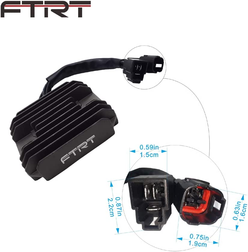 Voltage Regulator Rectifier for Suzuki GSX-R600 1997-2005,GSX-R750 1996-2005,GSX-R1000 2001-2004,GSX1300R Hayabusa 1999-2007,VL1500 Intrude 1998-2004,LT-F500F Quadrunner 1998-1999 by FTRT