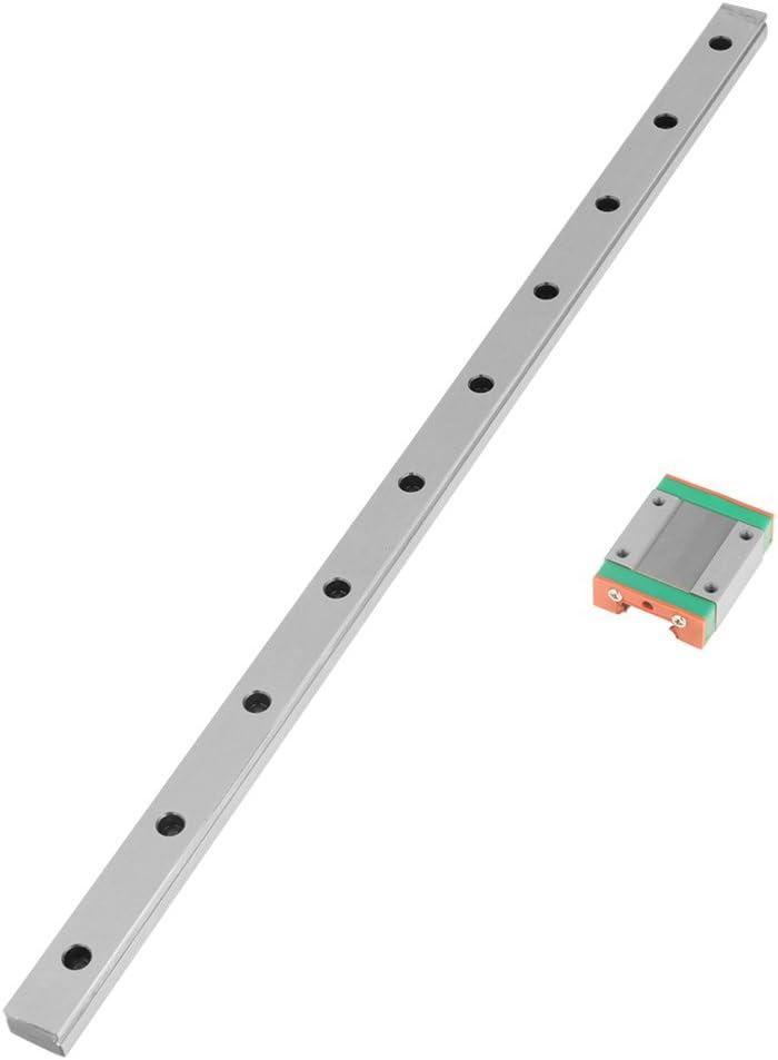 Linear Rail Guide Guideway LML15B Miniature Linear Rail Guide 400mm Length 15mm Width Slide Block for CNC Router Engraving Milling Machine