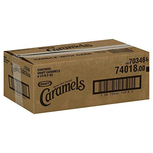 Kraft Caramels, Traditional, 9.5 Ounce Bags (Pack of 8) by Kraft