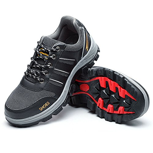 Resistant Protect Toe Work Women's Eclimb Steel Shoes Black Safety Slip Shoes SPx800Wnw