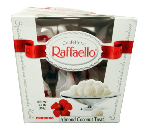 Ferrero Rafaello Almond Coconut Treat, 15-Count Packages (Pack of 3)