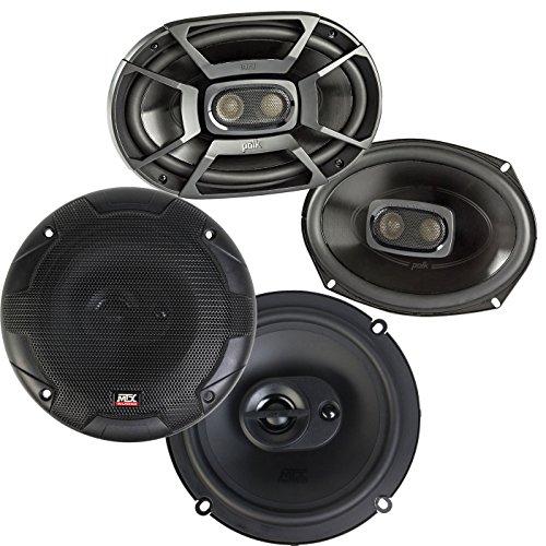 MTX Polk 6x9 Inch 450W Marine Speakers Terminator 653 6.5