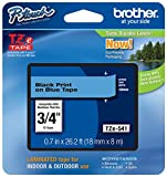 """Genuine Brother 3/4"""" (18mm) Black on Blue TZe P-touch Tape for Brother PT-9700PC, PT9700PC Label Maker"""