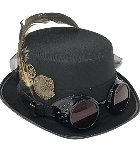 Kopper Tops Steampunk Costume Vintage Black Hat 7ce7c1f282fe