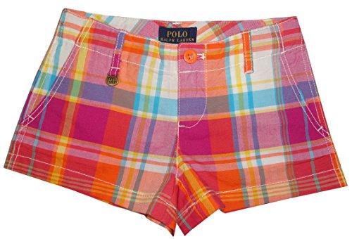Polo Ralph Lauren Girls Shorts Orange Multi Plaid (6) (Ralph Lauren Wimbledon)