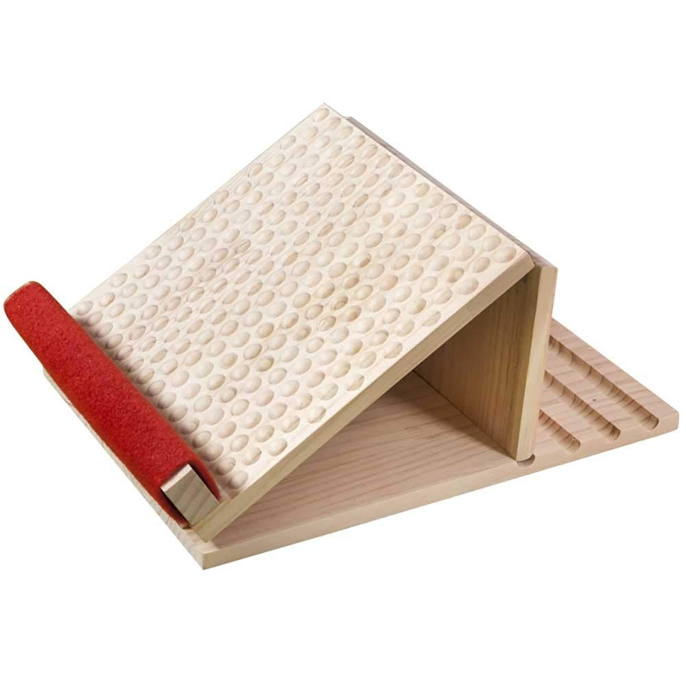 Zhao Li Lacing Plate, Bar Stool, Inclined Pedal, Lacing, Solid Wood, Correcting, Stretching, Skinny, Folding, Massage, Home (Color : Dots, Size : Four Gears)