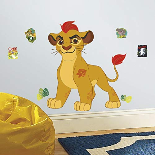 (ON 14 Piece Kids Yellow Red Orange Lion King Wall Decals Set, Disney Themed Wall Stickers Peel Stick, Fun Animated Animal Lion Guard Kion Cute Adorable Decorative Graphic Mural Art,)