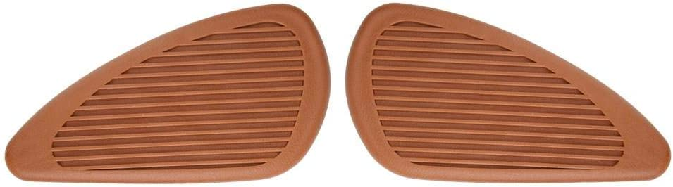 Anti-Slip Traction Pad Gas Fuel Tank Stickers Protector for Retro Motorcycle 2Pcs Brown