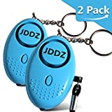 Personal Alarm, JDDZ 140 db Safe Siren Song Emergency Self Defense Protection Device Anti-Rape/Anti-Theft Security With Mini LED Flashlight for Women, Kids and Elderly 2 Pack (Blue)