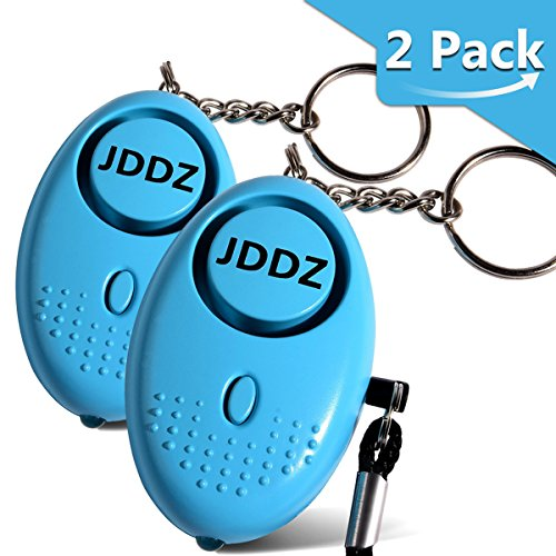 Personal Alarm, JDDZ 140 db Safe Siren Song Emergency Self Defense Protection Device Anti-Rape/Anti-Theft Security With Mini LED Flashlight for Women, Kids and Elderly 2 Pack (Blue) by JDDZ