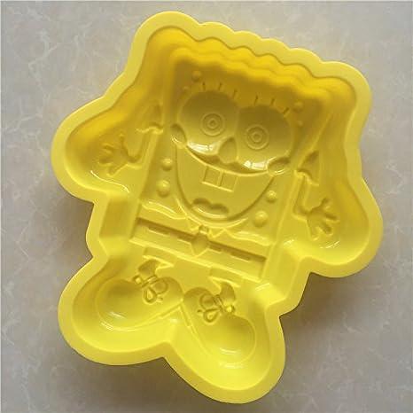 YL Bob Esponja G012 silicona pastel molde para hornear moldes de magdalenas tazas hecho a mano de jabón Moldes para galletas Chocolate bandeja para cubitos ...