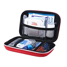 niceEshop(TM) First Aid Kit,Lightweight and Durable Medical Trauma Kit for Car Sports Hiking Travel Emergency Survival Camping Home