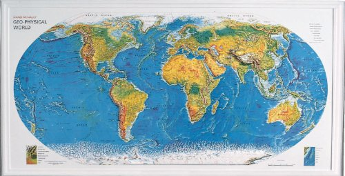 Hubbard Scientific World Relief Map, 38