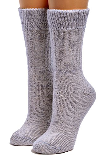 Warrior Alpaca Socks – Women's Toasty Toes Ultimate Alpaca Socks (Medium, Blue Heather)