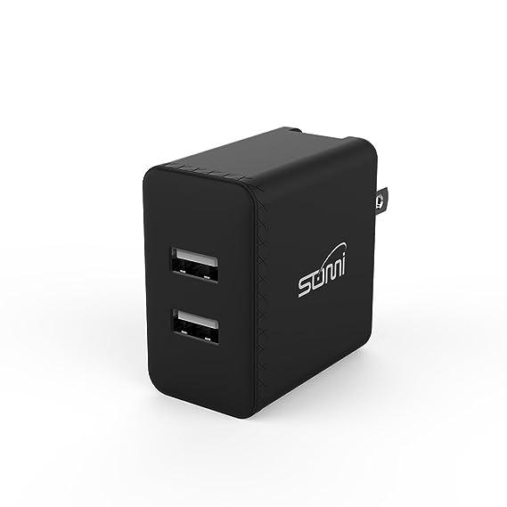 Amazon.com: somi 24 W Dual inteligente USB rápido portátil ...