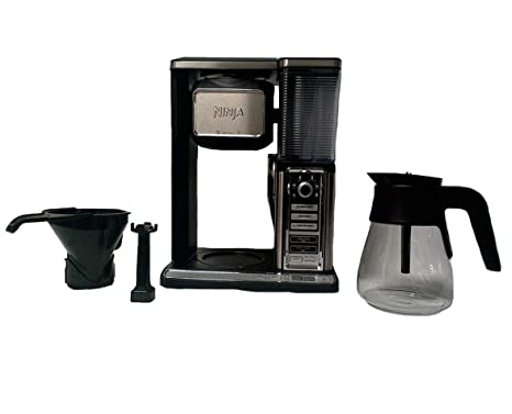Ninja Coffee Bar Glass Carafe System Single Serve Pod-Free with Built in Frother CF091 (Renewed)