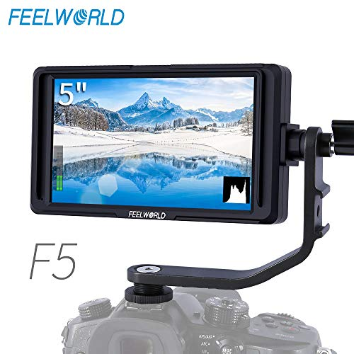 FEELWORLD F5 5 Inch DSLR Camera Field Monitor IPS Small Full HD 1920×1080 Video Focus Assist with 4K HDMI 8.4V DC Input Output Include Tilt Arm
