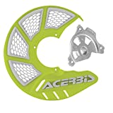 Acerbis X-Brake Vented Front Disc Cover with Mounting Kit Flo Yellow/White – Fits: Yamaha YZ450F 2003–2013