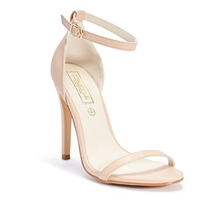 42b9b0bc27e6 TRUFFLE COLLECTION Women Beige Solid Heels  Buy Online at Low Prices in  India - Amazon.in