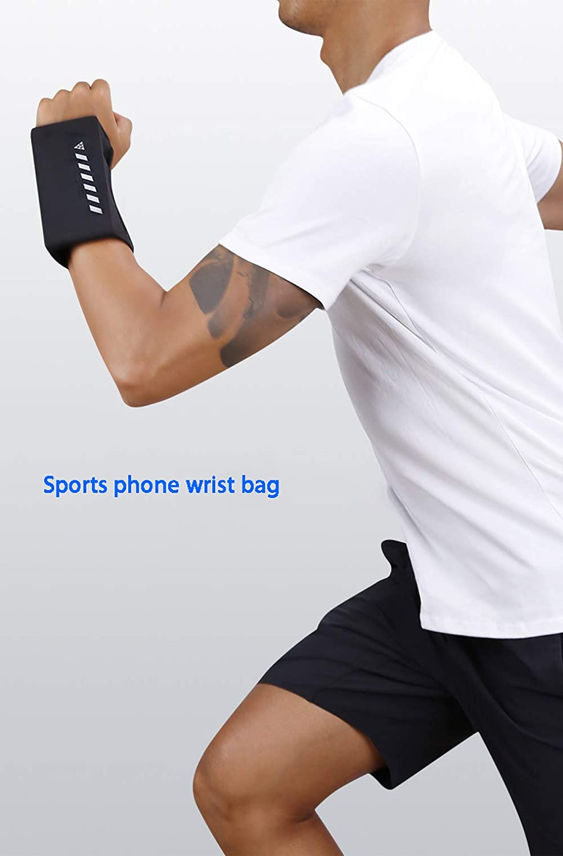 hengxing Bolso Deportivo para el Brazo del teléfono móvil (9.5 * 16 * 8 cm,Negro) Cojín Suave Incorporado,diseño de Seguridad Reflectante,elástico y Transpirable,se Puede Usar en el Gimnasio