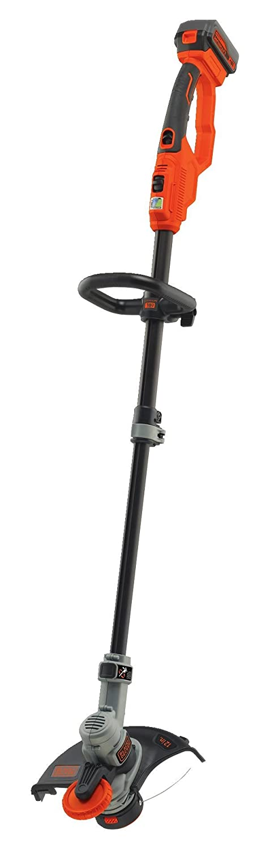 Black + Decker 18V Akku-Rasentrimmer, Motorsense, Rasenkantenschneider, 30 cm Schnittbreite, STC1840