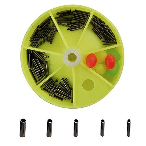 Leader Sleeves (Shaddock Fishing 100pcs/box-400pcs/box Size: 0.6-2.5mm Fishing Wire Leader Crimps Single Barrel Crimping Sleeves 100% Copper Tube Connector Fishing Tackle Kit (100pcs-0.6mm-1.3mm Inside Diameter))