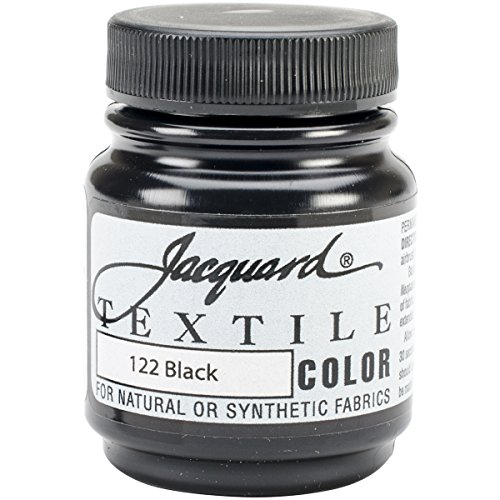 Jacquard Products TEXTILE-1122 Textile Color Fabric Paint, 2.25-Ounce, Black]()