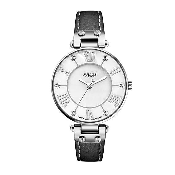 Julius JA-832 Marca Reloj Vintage Reloj de Cuarzo de Acero Inoxidable Reloj Ultrafino Impermeable a la Moda Reloj de Moda para Mujeres - Negro: Amazon.es: ...