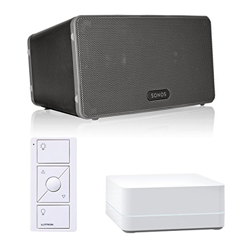 Price comparison product image Sonos PLAY:3 All-In-One Wireless Music Streaming Speaker with Caseta Wireless Smart Bridge and Pico Remote Control (Black)