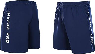 Inkpoo Lot de 3 shorts l/égers pour homme avec poches /à s/échage rapide pour le sport