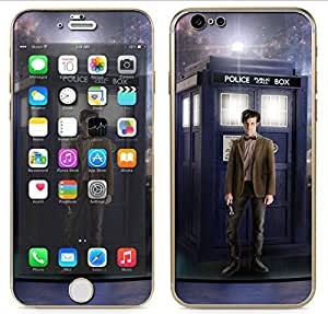 "Apple iPhone 6 (4.7"") - Skin Kit plus Clear/White Bumper Case Protector and matching wallpaper - Tardis #5 Call Box Dr. Who Phone Police Booth"