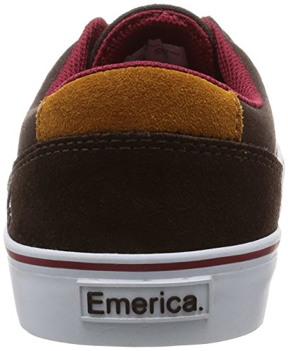 CHAUSSURES EMERICA PROVOST SLIM VULC BROWN WHITE