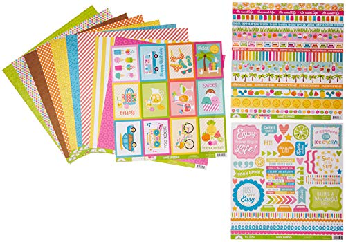Doodlebug 5998 Sweet Summer Double-Sided Paper Pack Multicolor