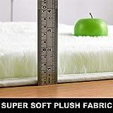 PAGISOFE Cream White Fluffy Shag Area Rugs for