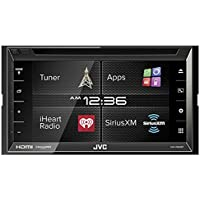 JVC KW-V620BT 6.8 Display Double DIN Bluetooth In-Dash Car Stereo with SiriusXM, HDMI, iDataLink